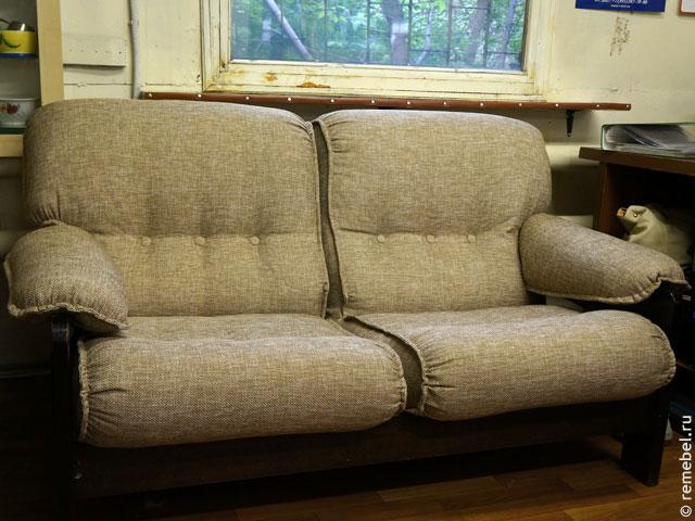 Перетяжка мягкой мебели дивана
